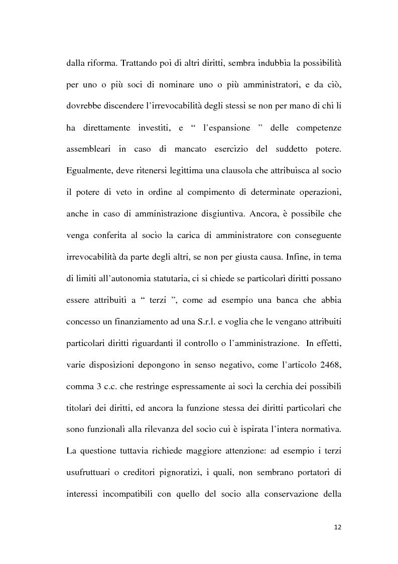 Anteprima della tesi: Amministrazione e controllo nella Società a Responsabilità Limitata, Pagina 9