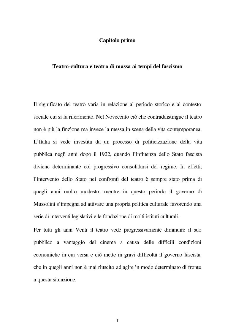 Anteprima della tesi: Il fascismo e il teatro, Pagina 3