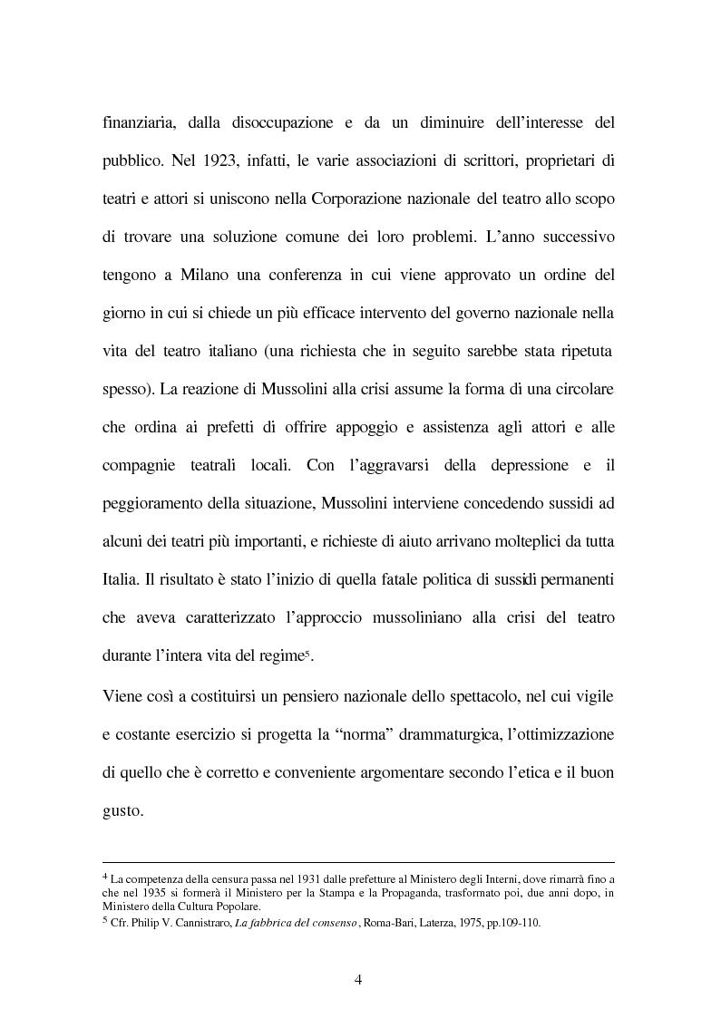 Anteprima della tesi: Il fascismo e il teatro, Pagina 6