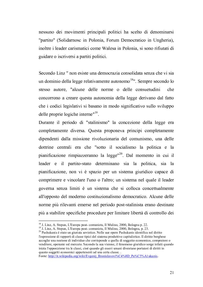 Estratto dalla tesi: Transizione e democrazia. Forme di governo a confronto: i casi polacco e ungherese.