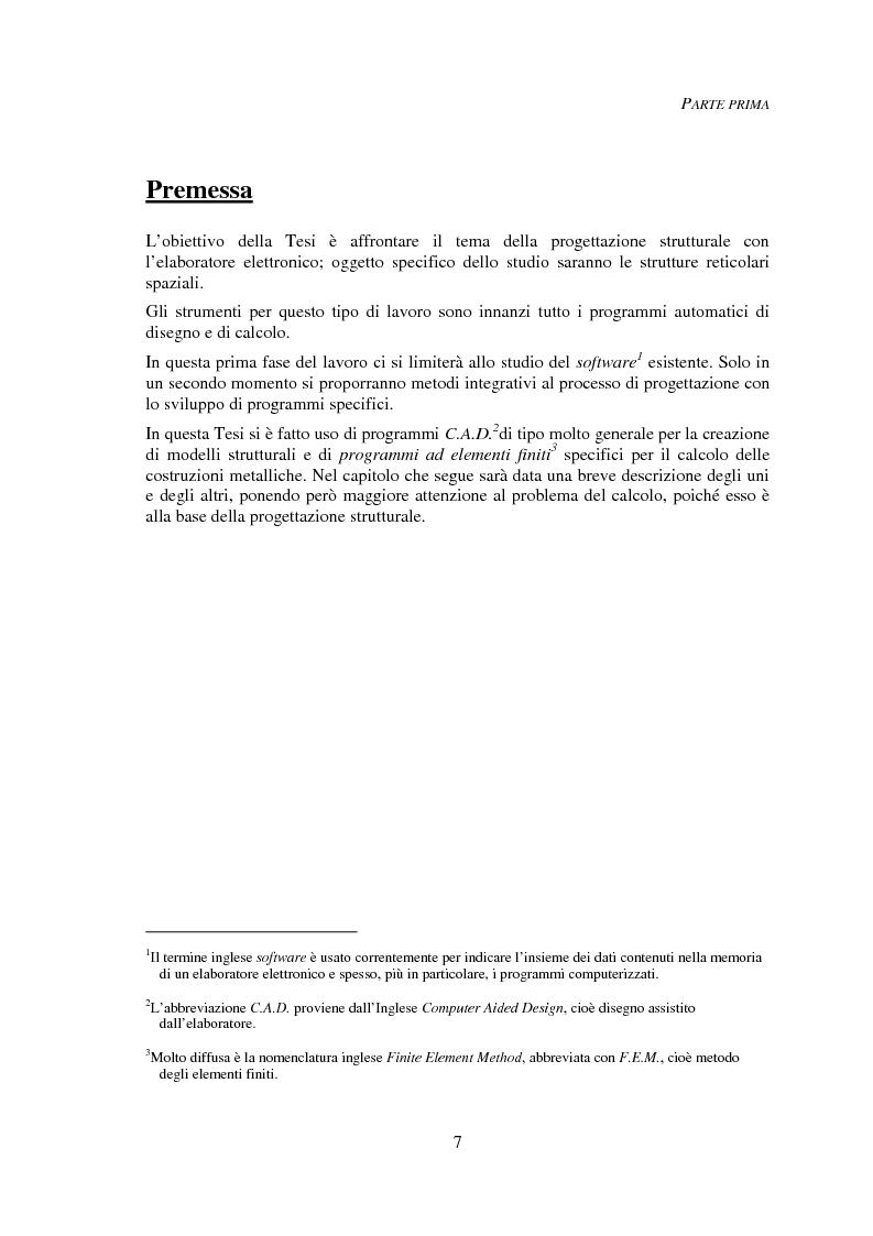 Anteprima della tesi: Progettazione automatica delle strutture reticolari spaziali, Pagina 3