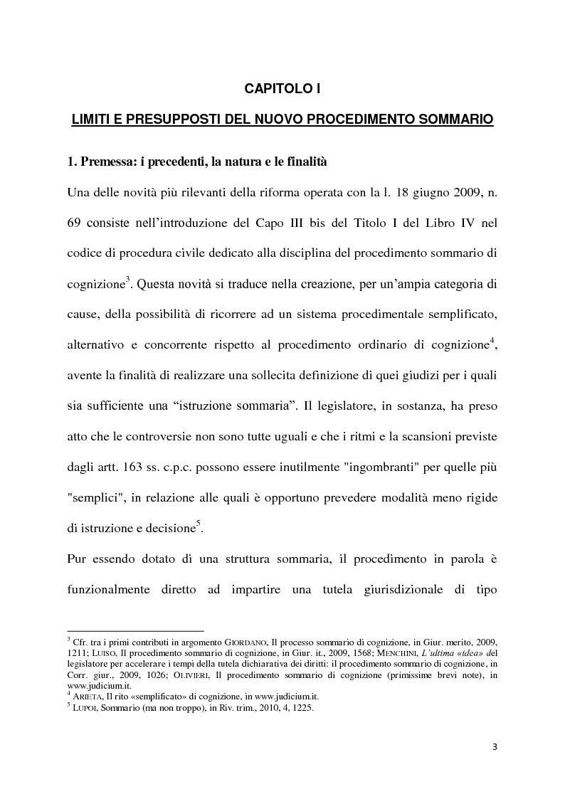 Il processo sommario di cognizione Tesi di Laurea Tesionline