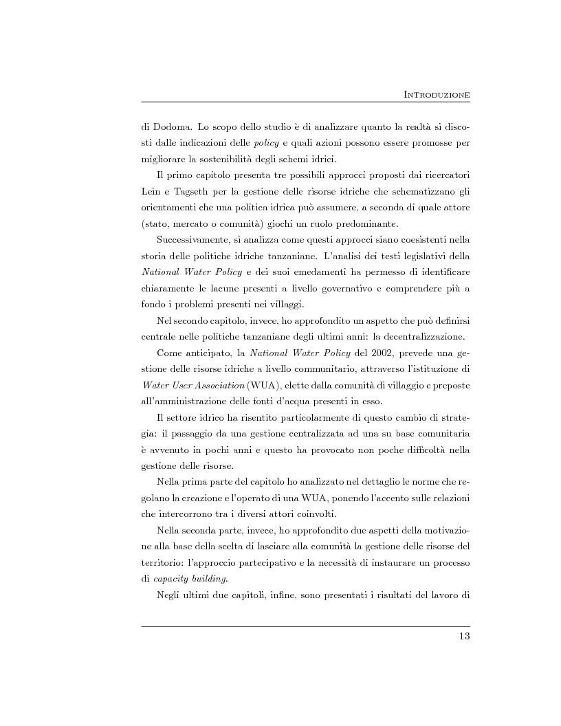 Anteprima della tesi: La gestione delle risorse idriche in Tanzania, Pagina 8