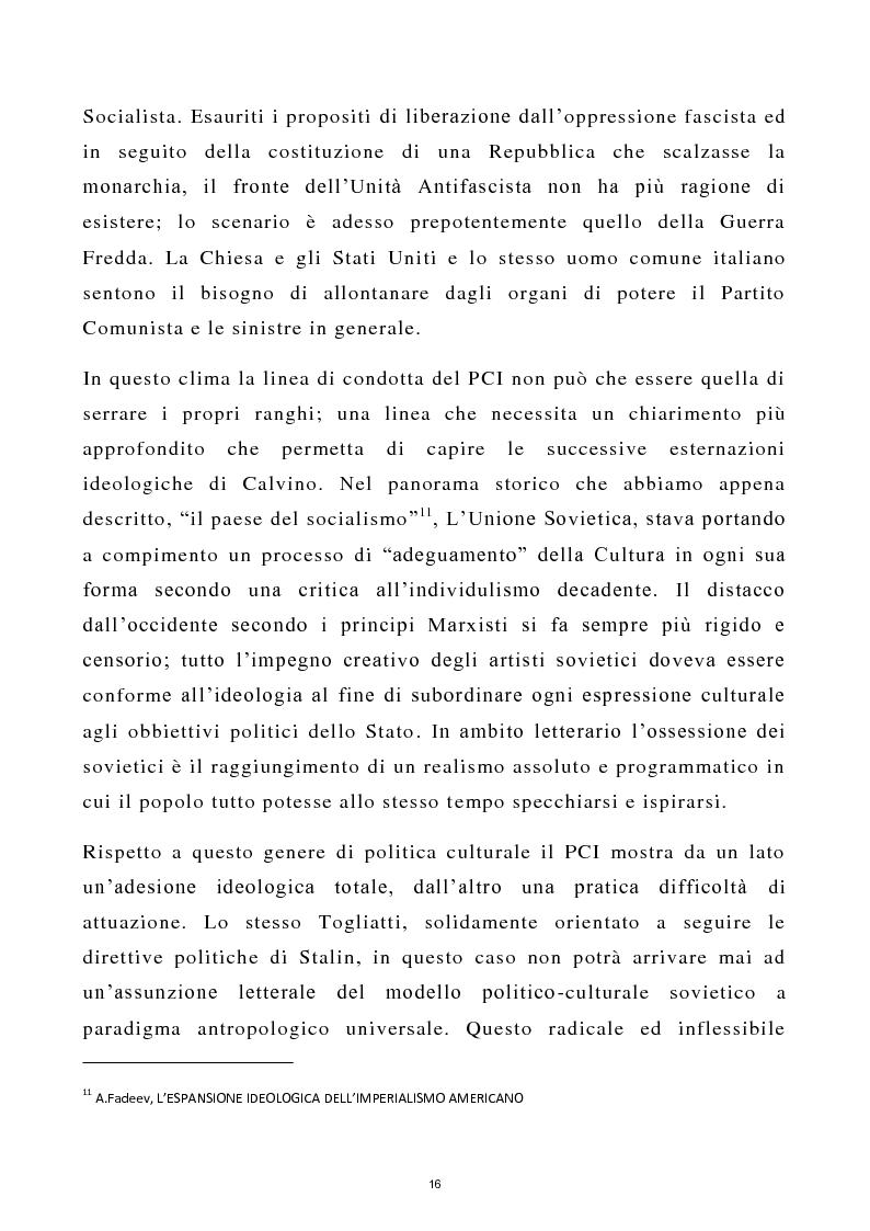 Estratto dalla tesi: Calvino Scrittore Giornalista