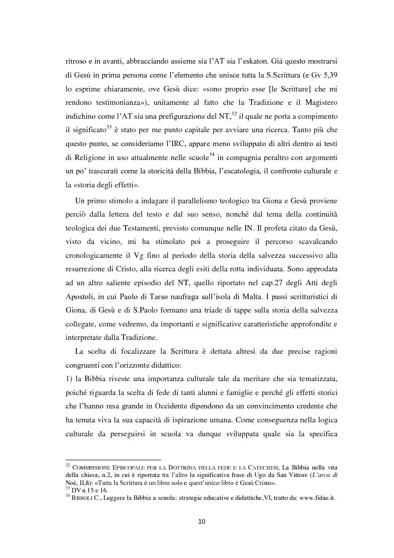 Anteprima della tesi: «Il segno di Giona» (Mt 12,39-40). Da Pinocchio a Paolo di Tarso: una simbolica della resurrezione in declinazione didattica., Pagina 11