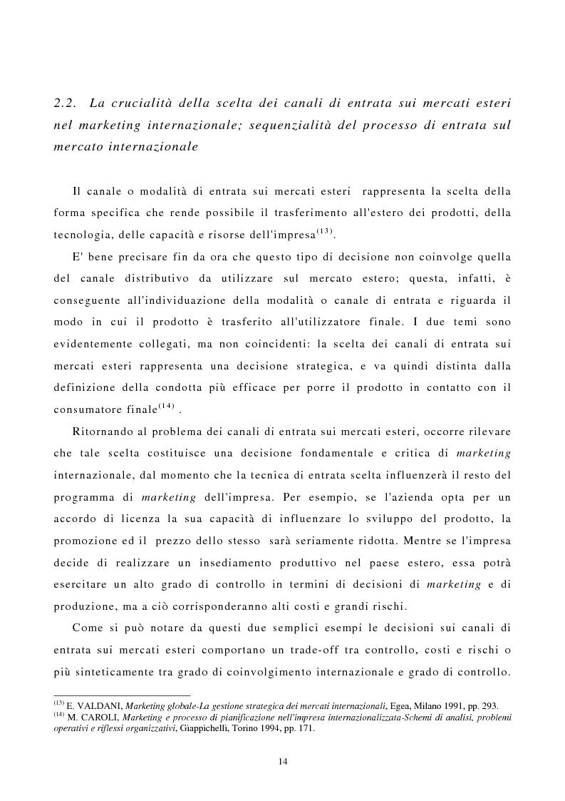 Anteprima della tesi: I canali di entrata sui mercati esteri per i beni industriali: analisi del caso delle macchine utensili in Italia, Pagina 10