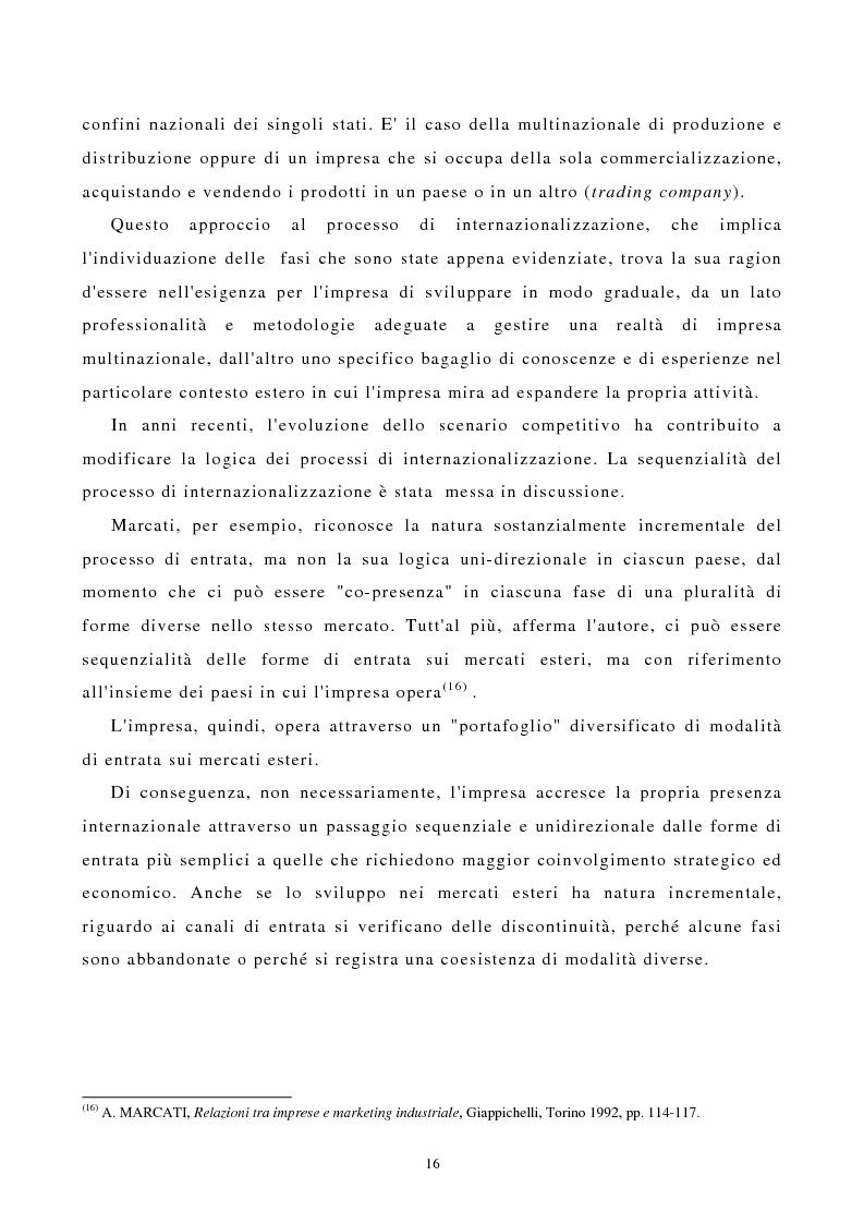 Anteprima della tesi: I canali di entrata sui mercati esteri per i beni industriali: analisi del caso delle macchine utensili in Italia, Pagina 12