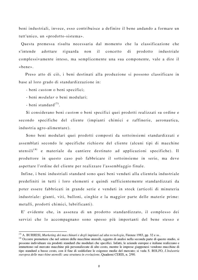 Anteprima della tesi: I canali di entrata sui mercati esteri per i beni industriali: analisi del caso delle macchine utensili in Italia, Pagina 4