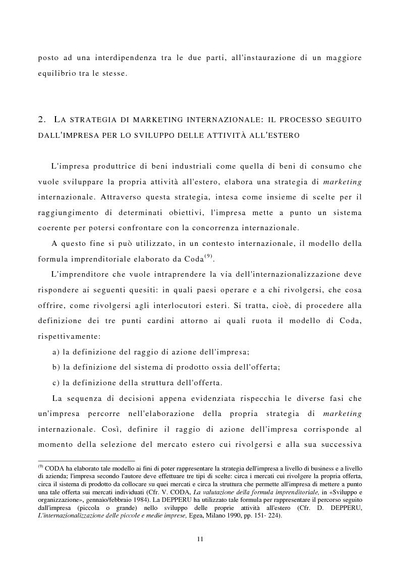 Anteprima della tesi: I canali di entrata sui mercati esteri per i beni industriali: analisi del caso delle macchine utensili in Italia, Pagina 7