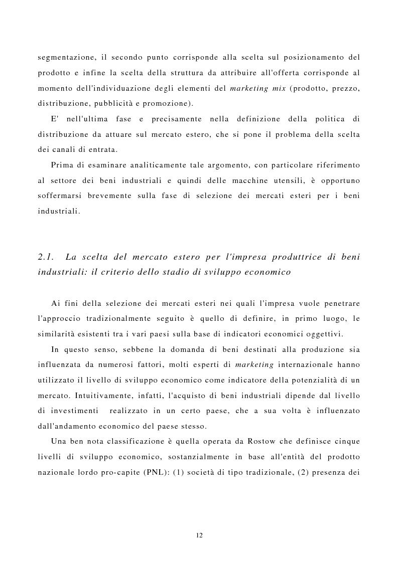 Anteprima della tesi: I canali di entrata sui mercati esteri per i beni industriali: analisi del caso delle macchine utensili in Italia, Pagina 8