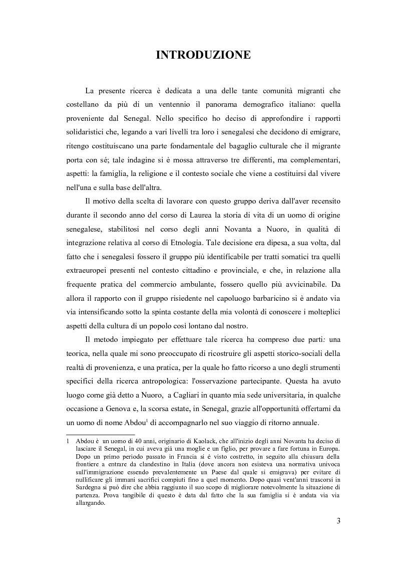 Circuiti di solidariet� e cooperazione nelle migrazioni dei senegalesi. Dalla Sardegna al Senegal e ritorno - Tesi di La...