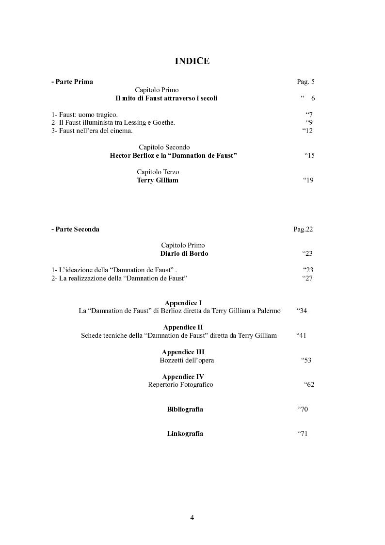 Indice della tesi: La ''Damnation de Faust'' di Terry Gilliam, Pagina 1
