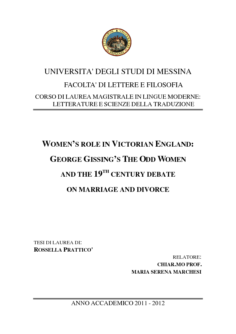 preview of the thesis women s role in the late victorian england preview of the thesis women s role in the late victorian england george gissing s