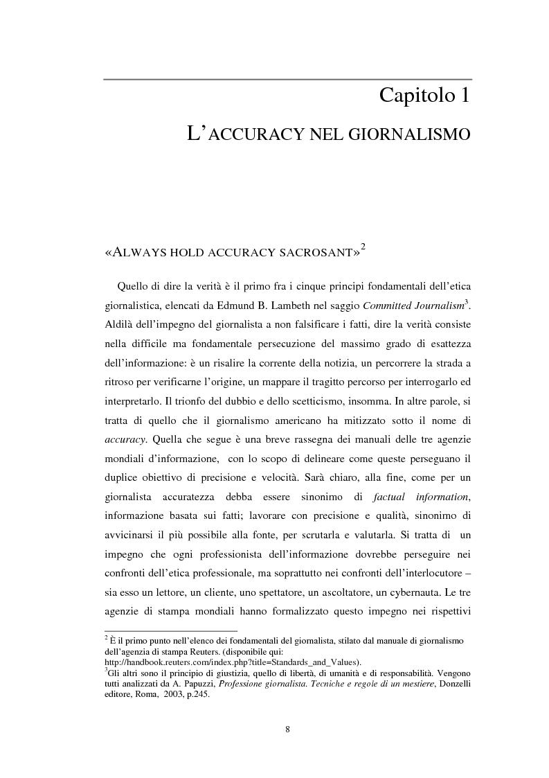 Anteprima della tesi: Nuove forme di fact checking. Verificare le notizie nell'epoca del web 2.0, Pagina 6