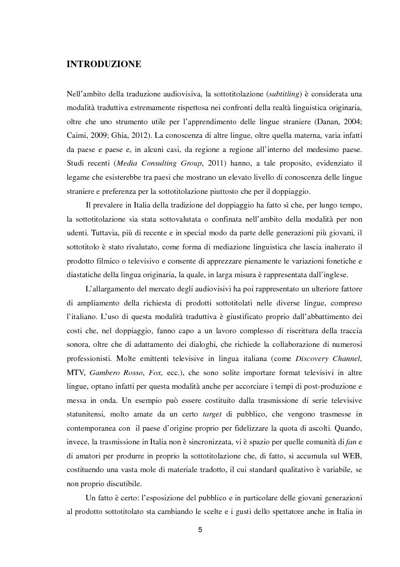 Anteprima della tesi: Dai sottotitoli ai corpora paralleli: un percorso metodologico, Pagina 2