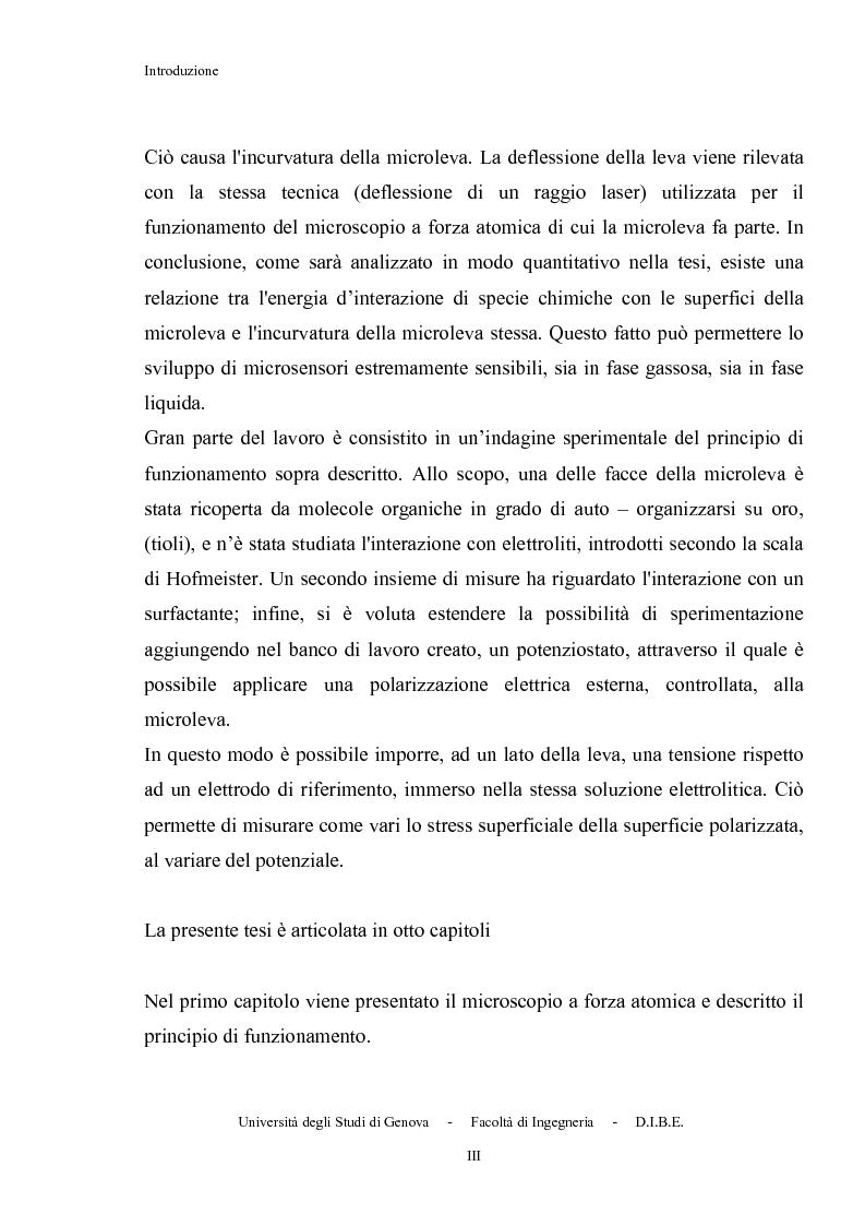 Anteprima della tesi: Utilizzo di microleve in silicio per applicazioni biosensoristiche, Pagina 3