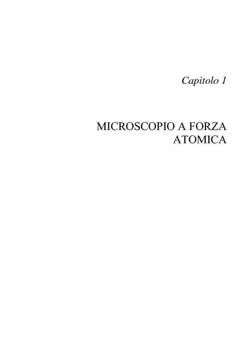 Anteprima della tesi: Utilizzo di microleve in silicio per applicazioni biosensoristiche, Pagina 5
