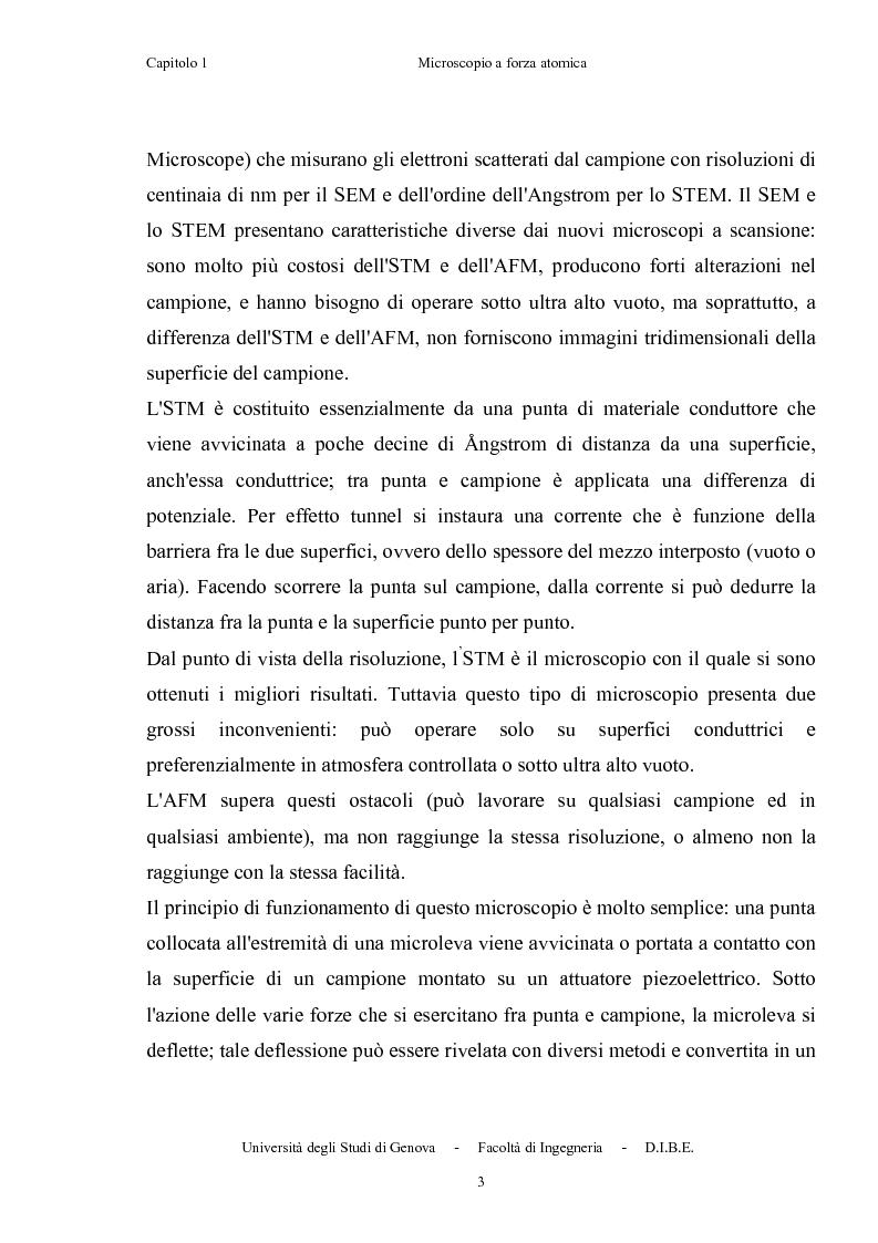 Anteprima della tesi: Utilizzo di microleve in silicio per applicazioni biosensoristiche, Pagina 7