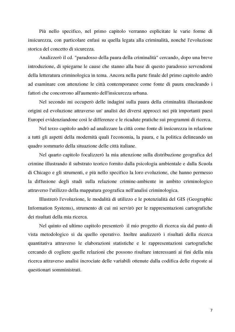 Anteprima della tesi: La paura della criminalità nella città di Forlì: analisi comparativa tra criminalità reale e senso di insicurezza percepito, Pagina 5