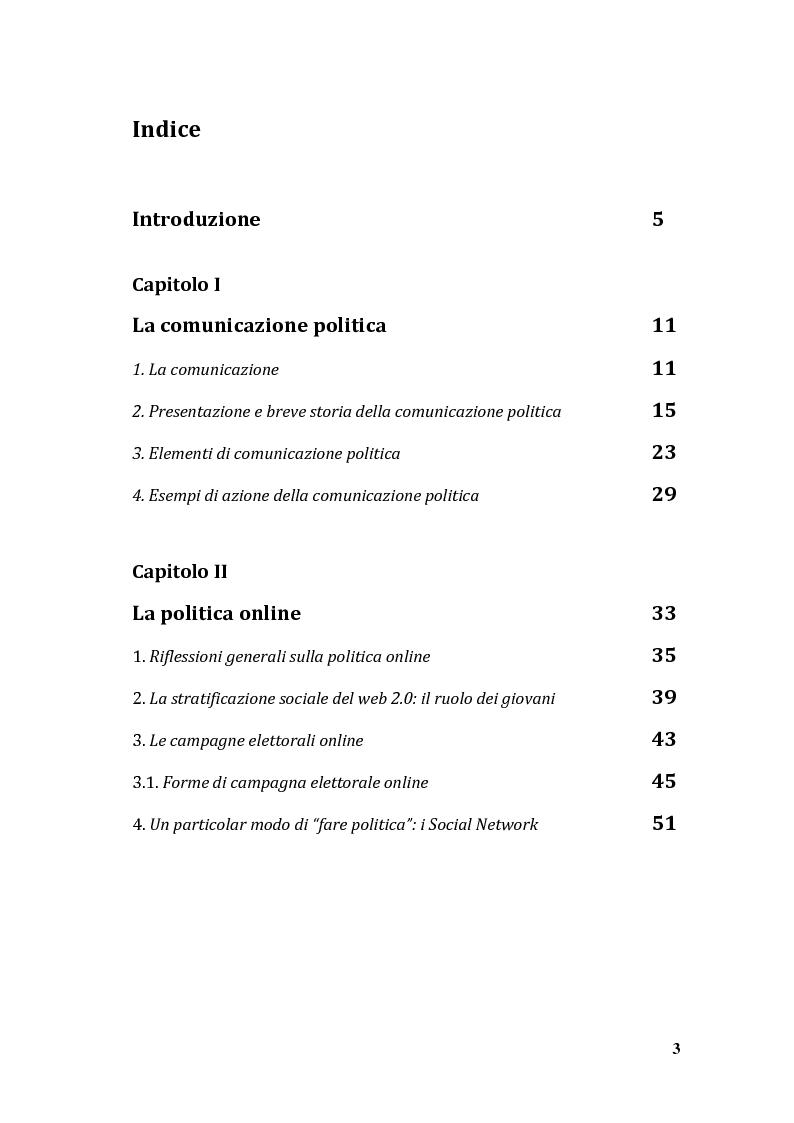 Indice della tesi: La Rete come ideologia: la comunicazione politica di Beppe Grillo e del MoVimento Cinque Stelle, Pagina 1