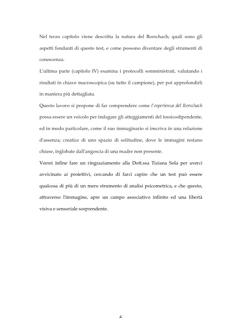 Anteprima della tesi: L'Esperienza Rorschach nella tossicodipendenza, Pagina 4