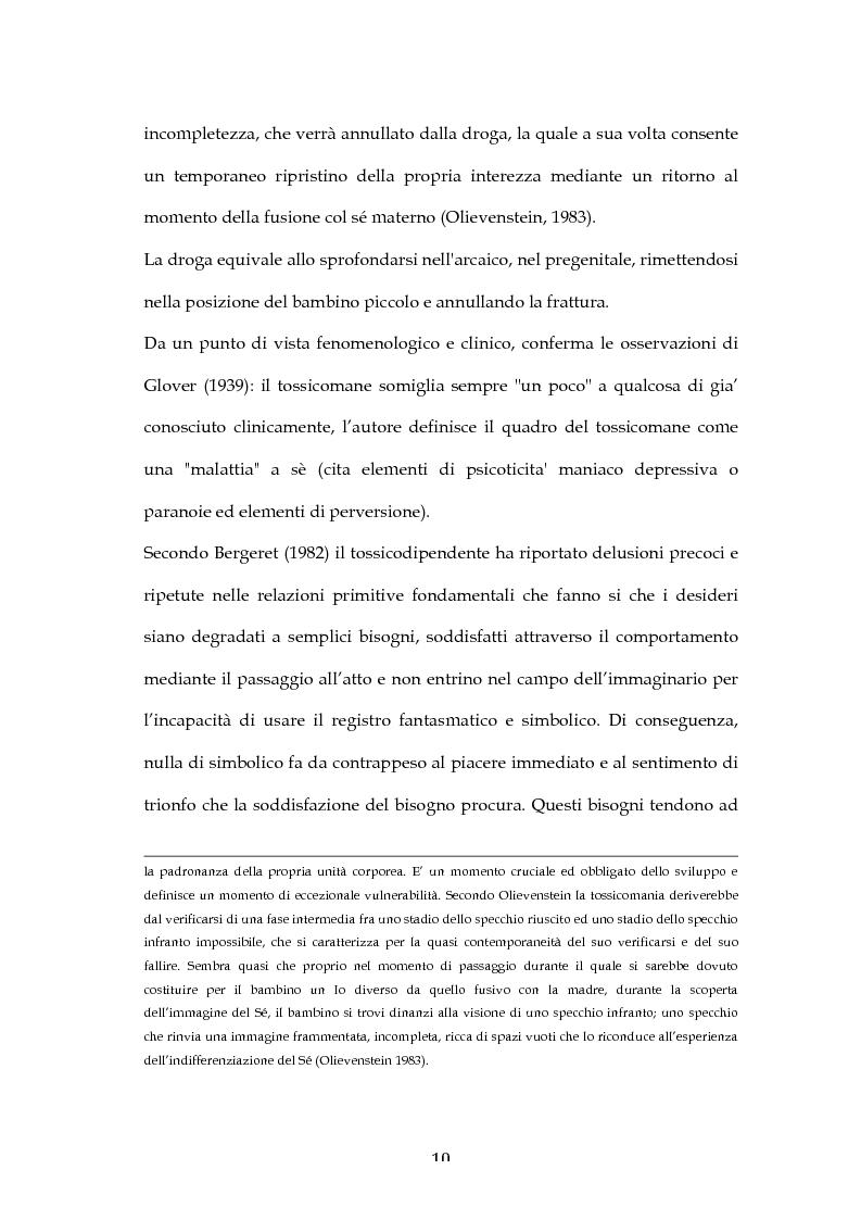 Anteprima della tesi: L'Esperienza Rorschach nella tossicodipendenza, Pagina 8