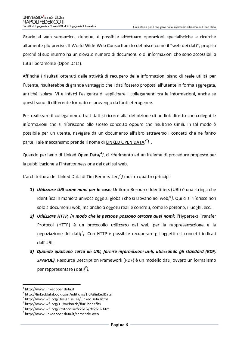 Anteprima della tesi: Un sistema per il recupero delle informazioni basato su Open Data, Pagina 3
