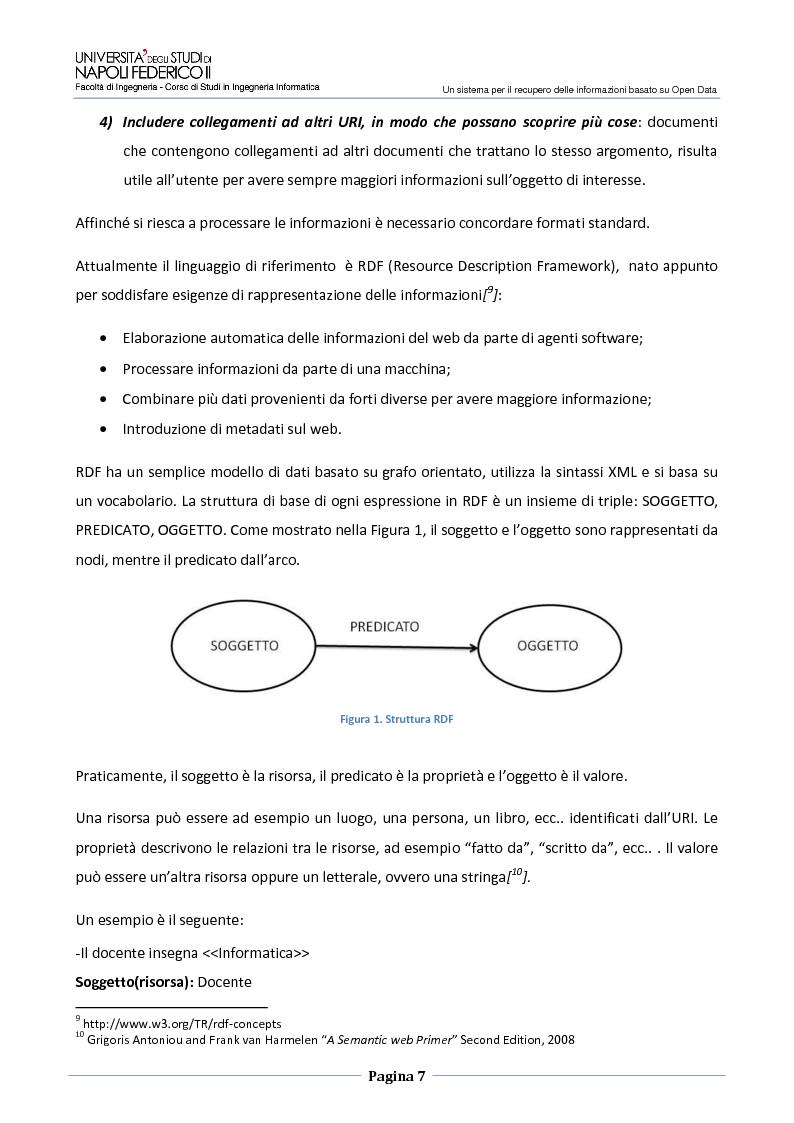 Anteprima della tesi: Un sistema per il recupero delle informazioni basato su Open Data, Pagina 4