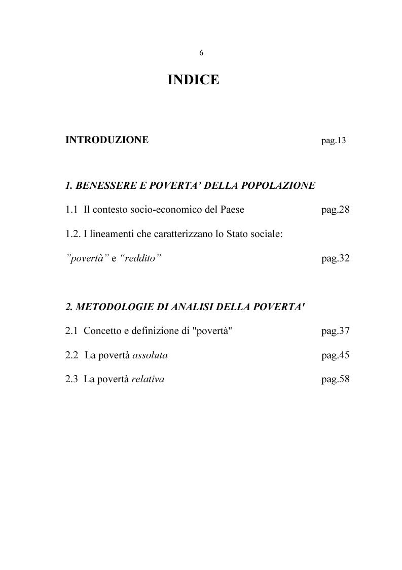 Indice della tesi: Lo Stato sociale, Pagina 1