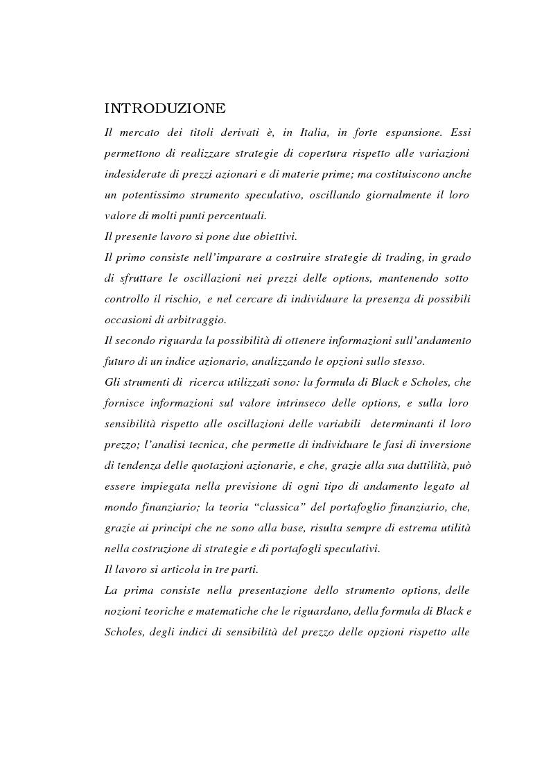 Anteprima della tesi: Tecniche di gestione di portafogli speculativi di options, Pagina 1