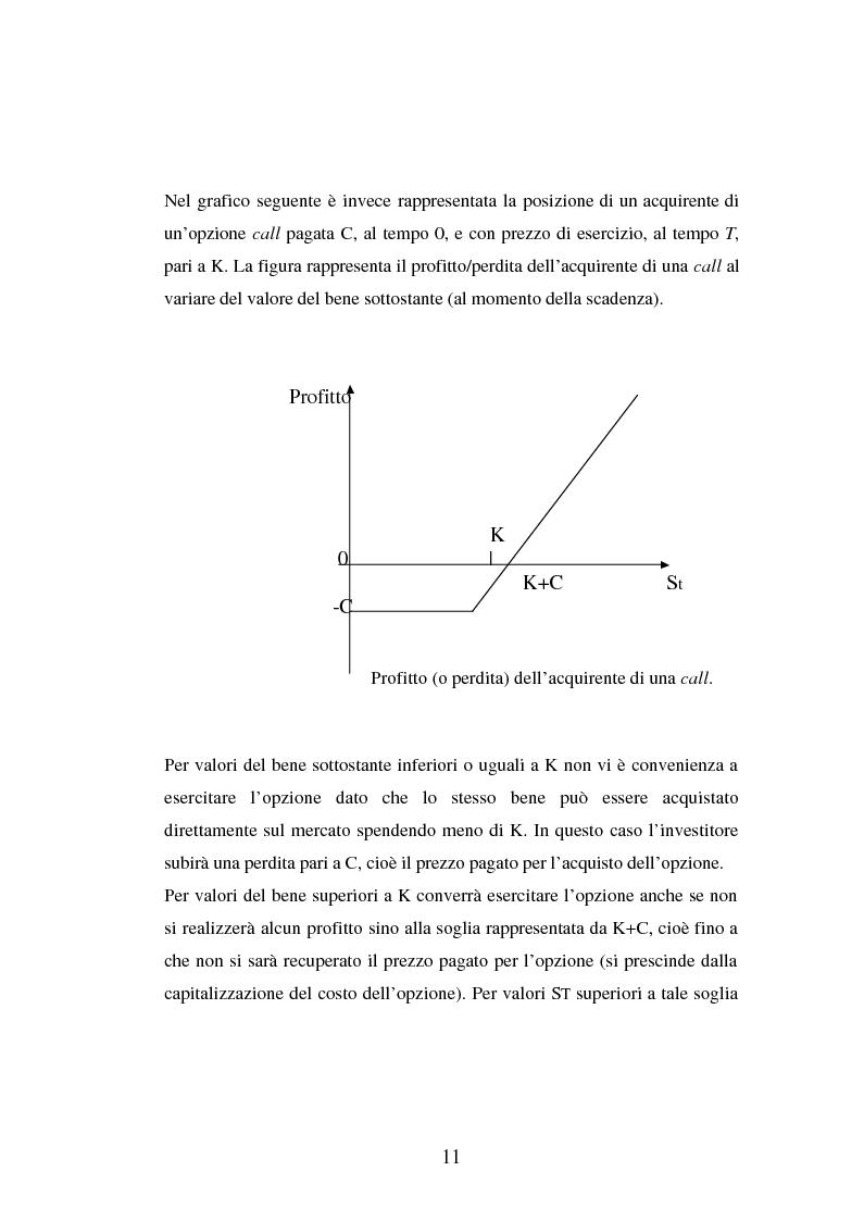 Anteprima della tesi: Tecniche di gestione di portafogli speculativi di options, Pagina 11