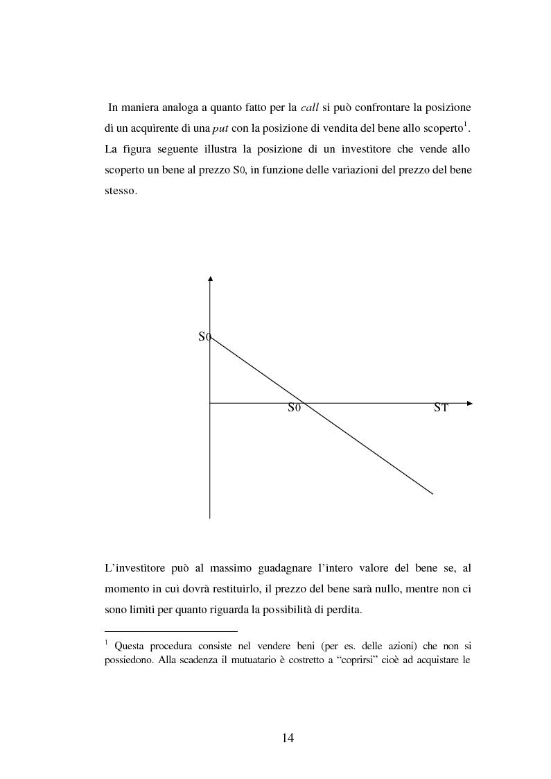 Anteprima della tesi: Tecniche di gestione di portafogli speculativi di options, Pagina 14
