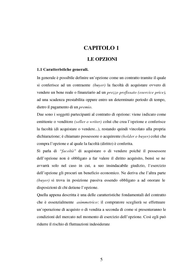Anteprima della tesi: Tecniche di gestione di portafogli speculativi di options, Pagina 5