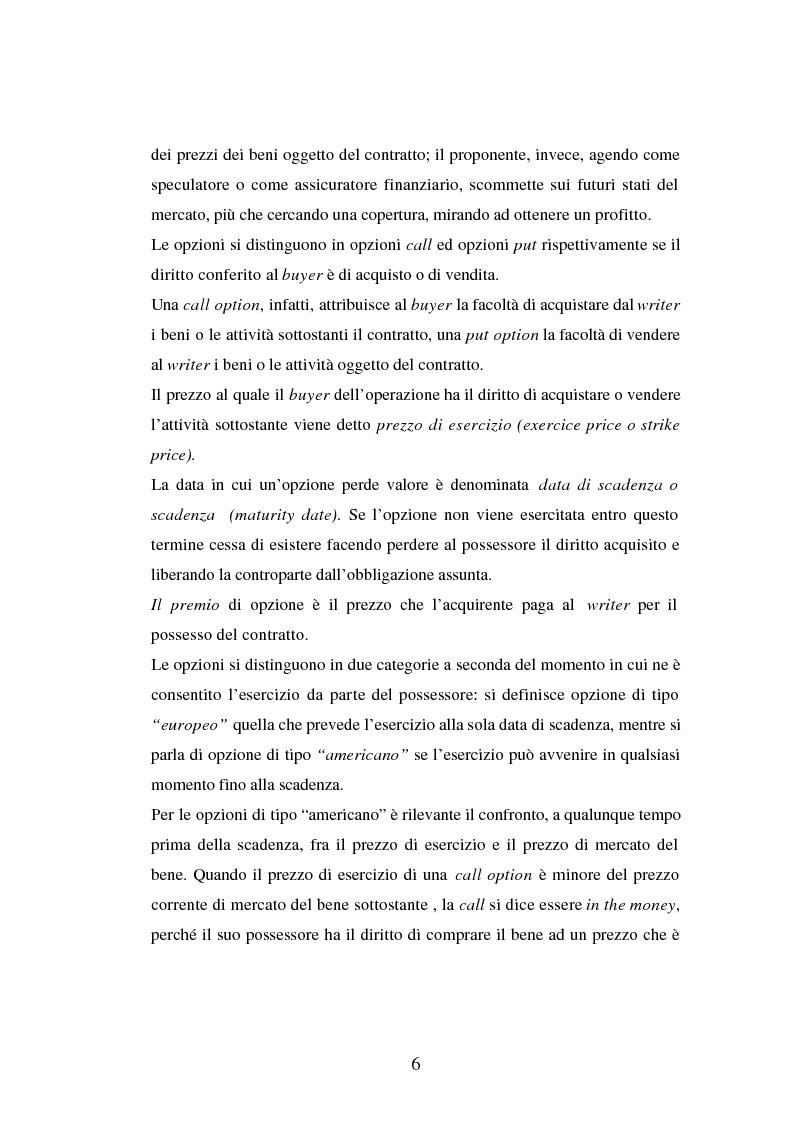 Anteprima della tesi: Tecniche di gestione di portafogli speculativi di options, Pagina 6