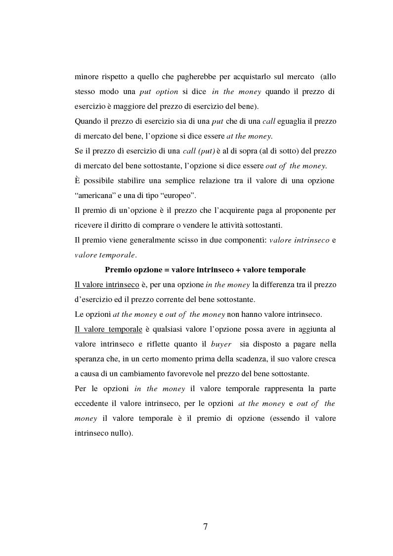 Anteprima della tesi: Tecniche di gestione di portafogli speculativi di options, Pagina 7
