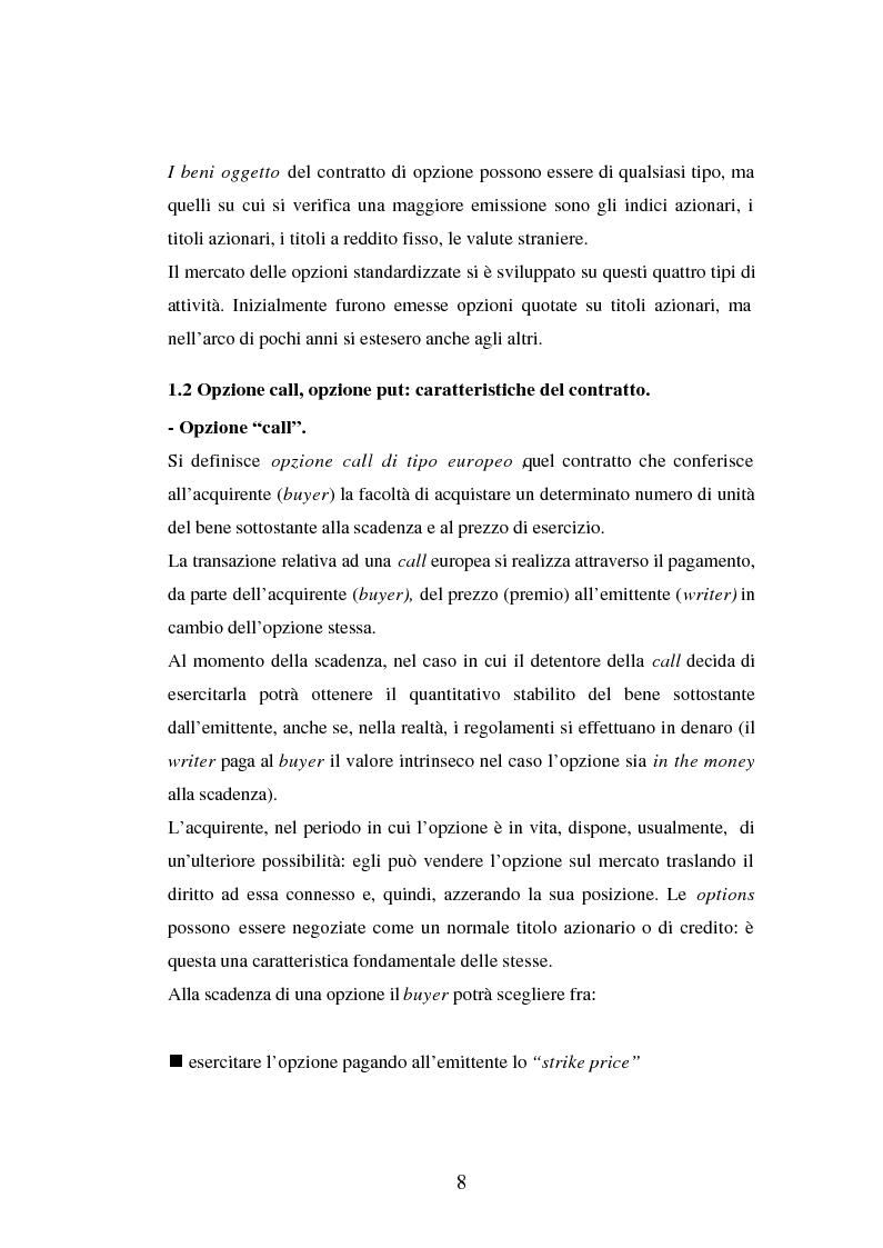 Anteprima della tesi: Tecniche di gestione di portafogli speculativi di options, Pagina 8