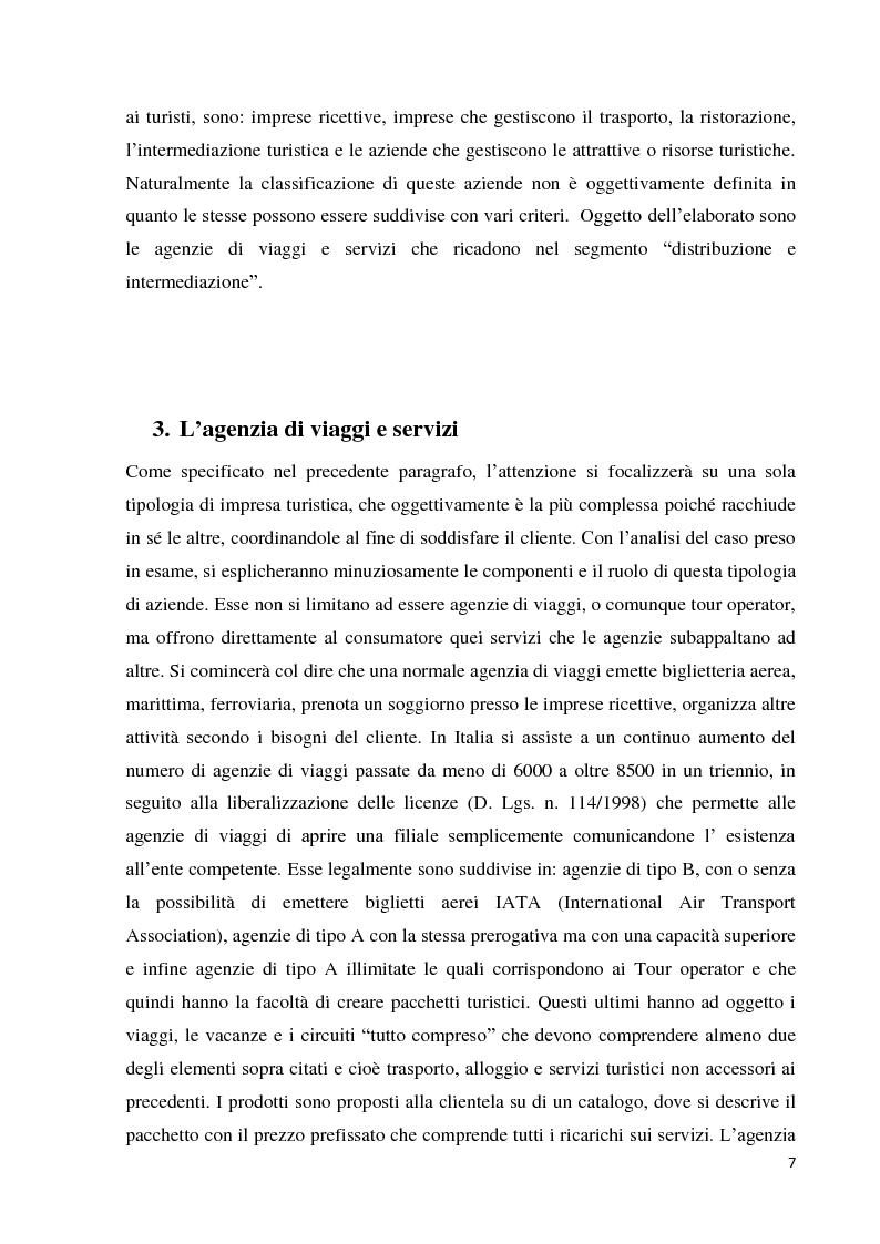 Estratto dalla tesi: Le agenzie di viaggio e turismo - Il caso del Gruppo Foderaro