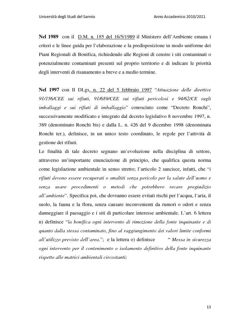 Anteprima della tesi: La bonifica dell'ex discarica comunale di Castelfranco in Miscano: indagini conoscitive ed ipotesi di intervento, Pagina 12