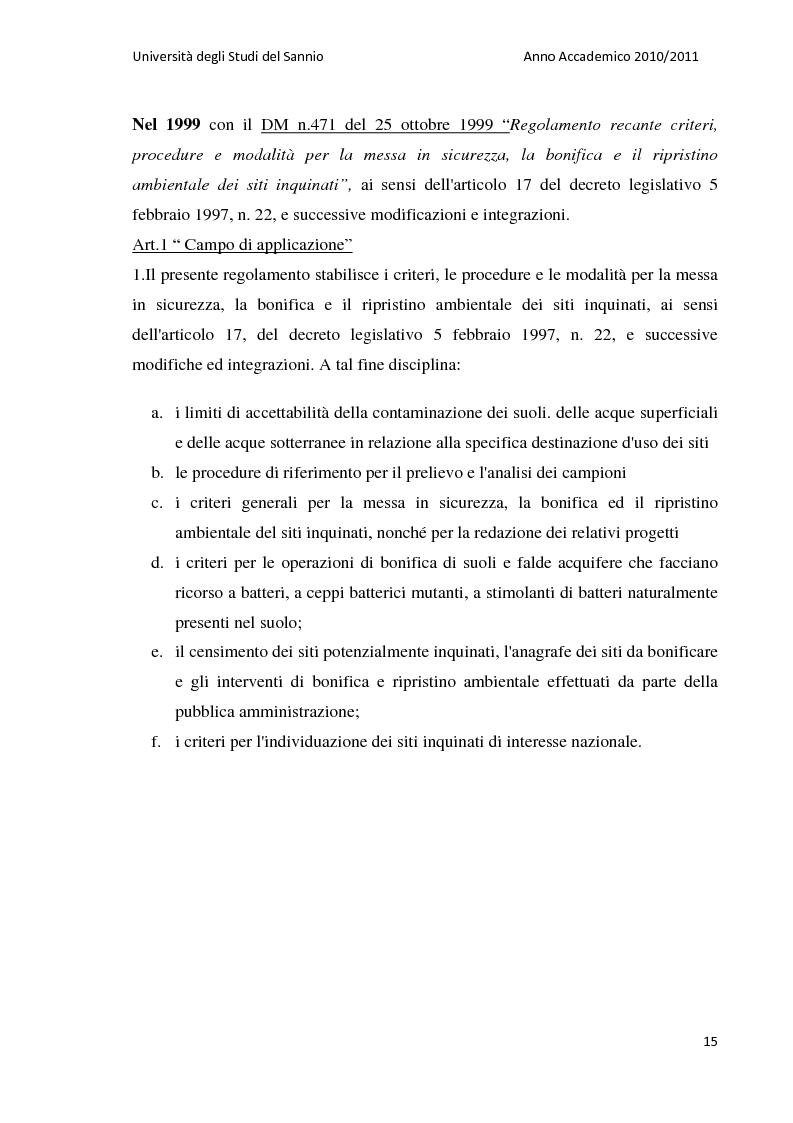 Anteprima della tesi: La bonifica dell'ex discarica comunale di Castelfranco in Miscano: indagini conoscitive ed ipotesi di intervento, Pagina 14