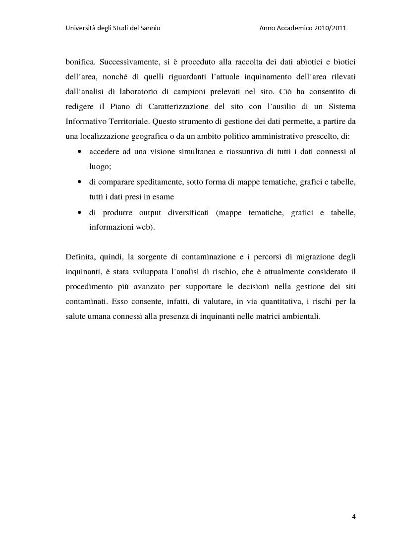 Anteprima della tesi: La bonifica dell'ex discarica comunale di Castelfranco in Miscano: indagini conoscitive ed ipotesi di intervento, Pagina 3