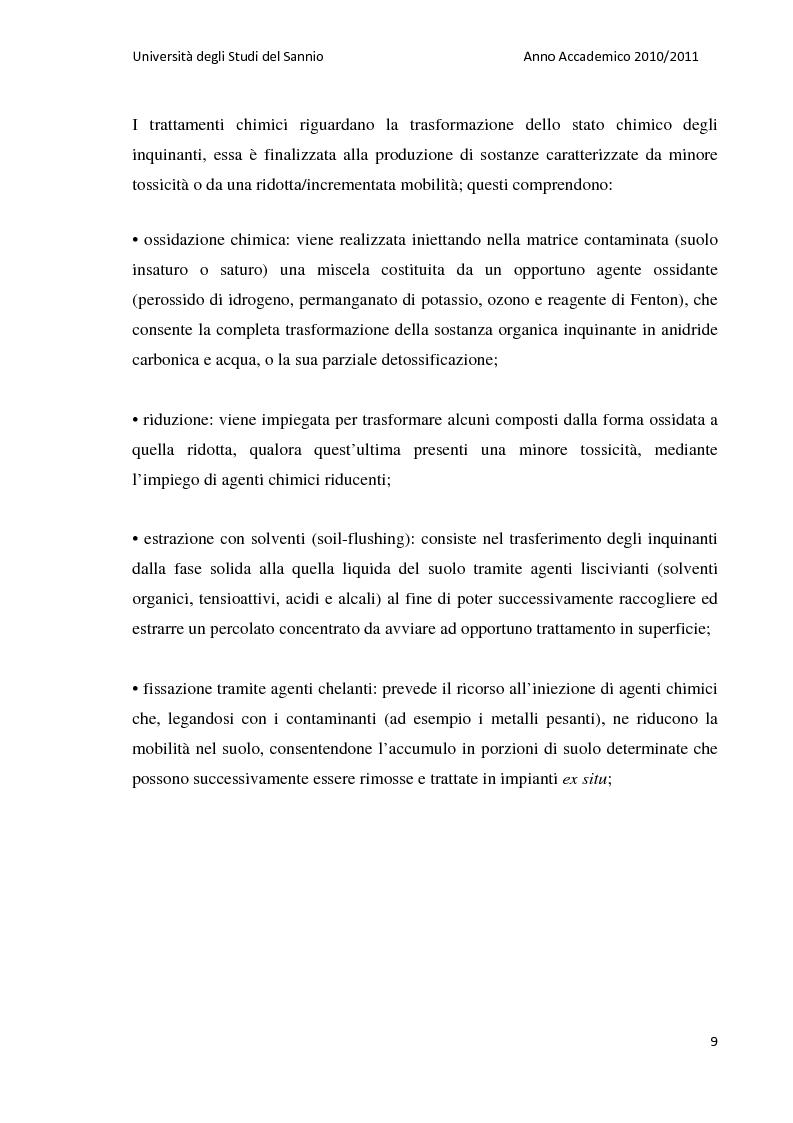 Anteprima della tesi: La bonifica dell'ex discarica comunale di Castelfranco in Miscano: indagini conoscitive ed ipotesi di intervento, Pagina 8