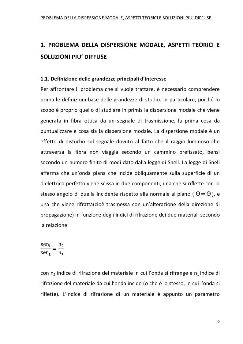 Anteprima della tesi: Progetto di fibre ottiche a dispersione controllata per comunicazioni ottiche, Pagina 5