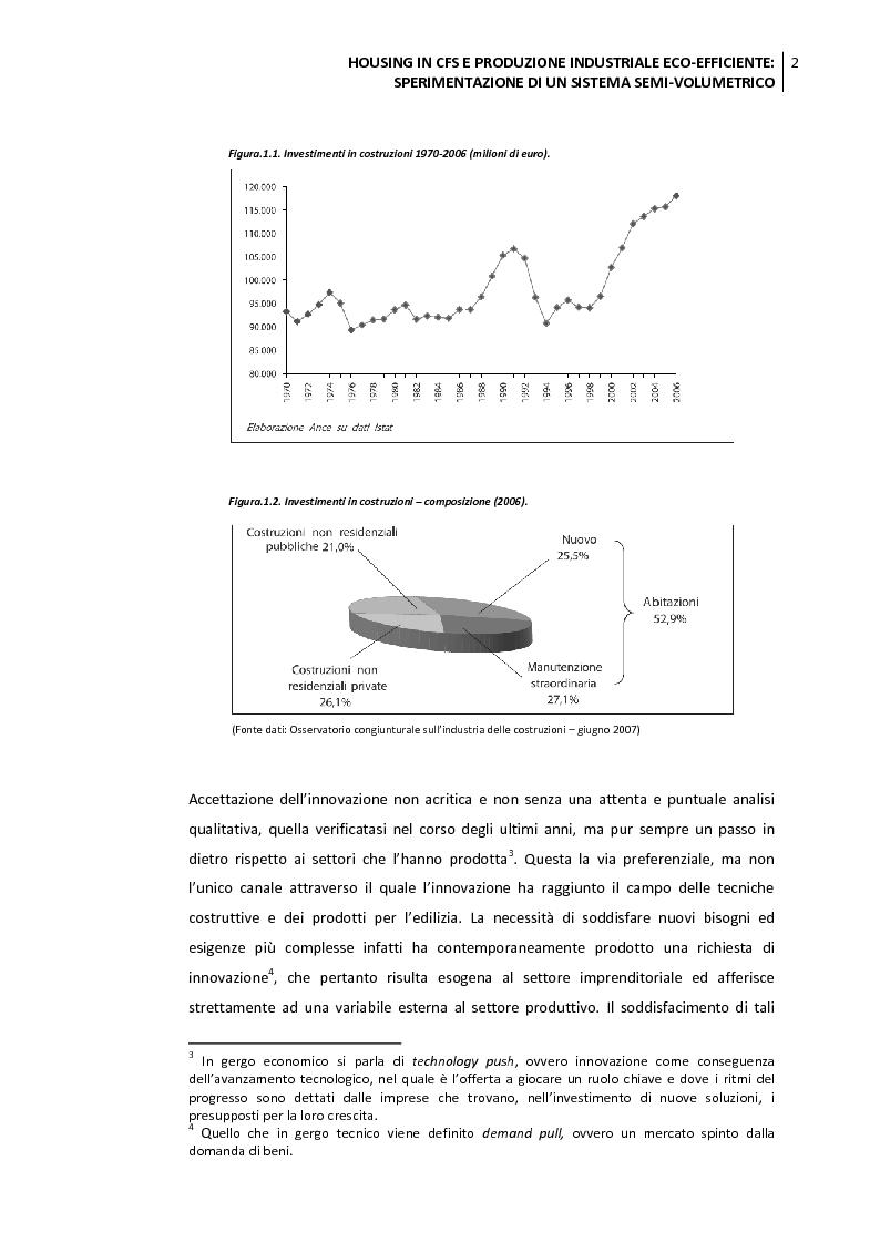 Anteprima della tesi: Housing in CFS e produzione industriale eco-efficiente. Sperimentazione di un sistema semi-volumetrico., Pagina 3