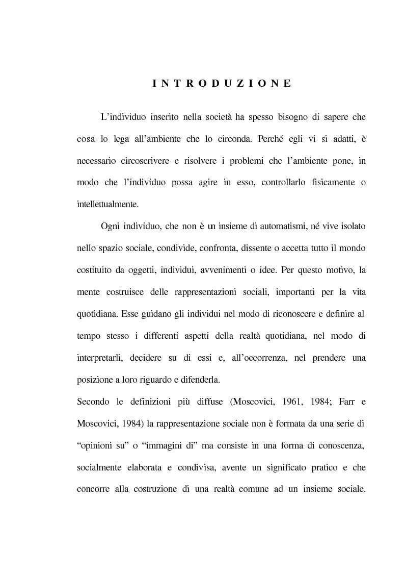 Anteprima della tesi: La rappresentazione sociale del lavoro. Un'analisi del rapporto tra giovani e mondo del lavoro., Pagina 1