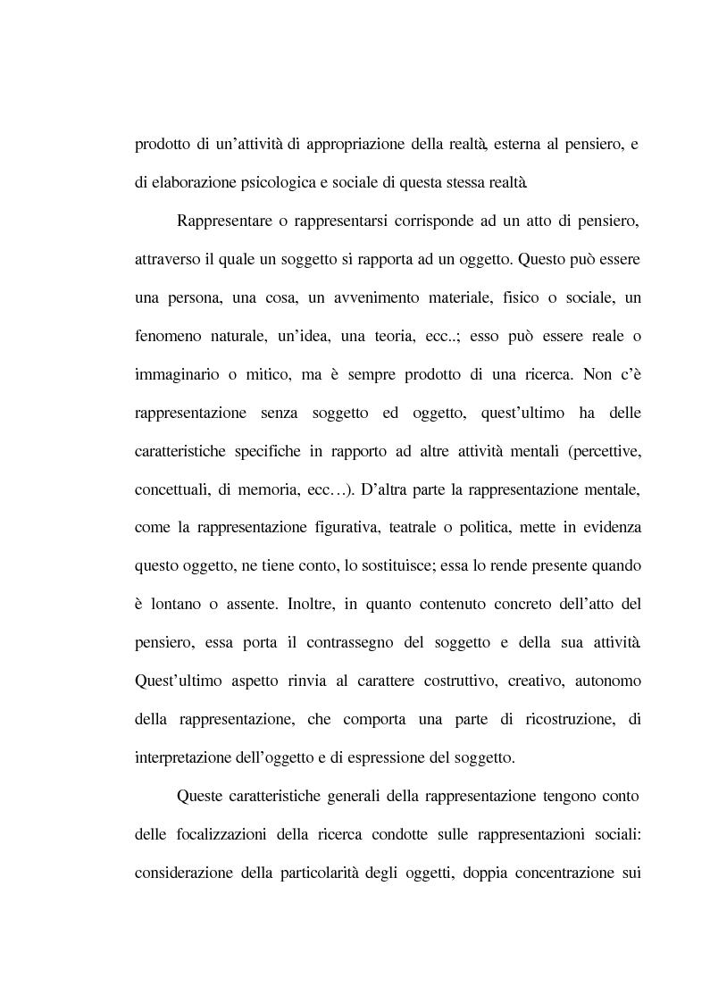 Anteprima della tesi: La rappresentazione sociale del lavoro. Un'analisi del rapporto tra giovani e mondo del lavoro., Pagina 3