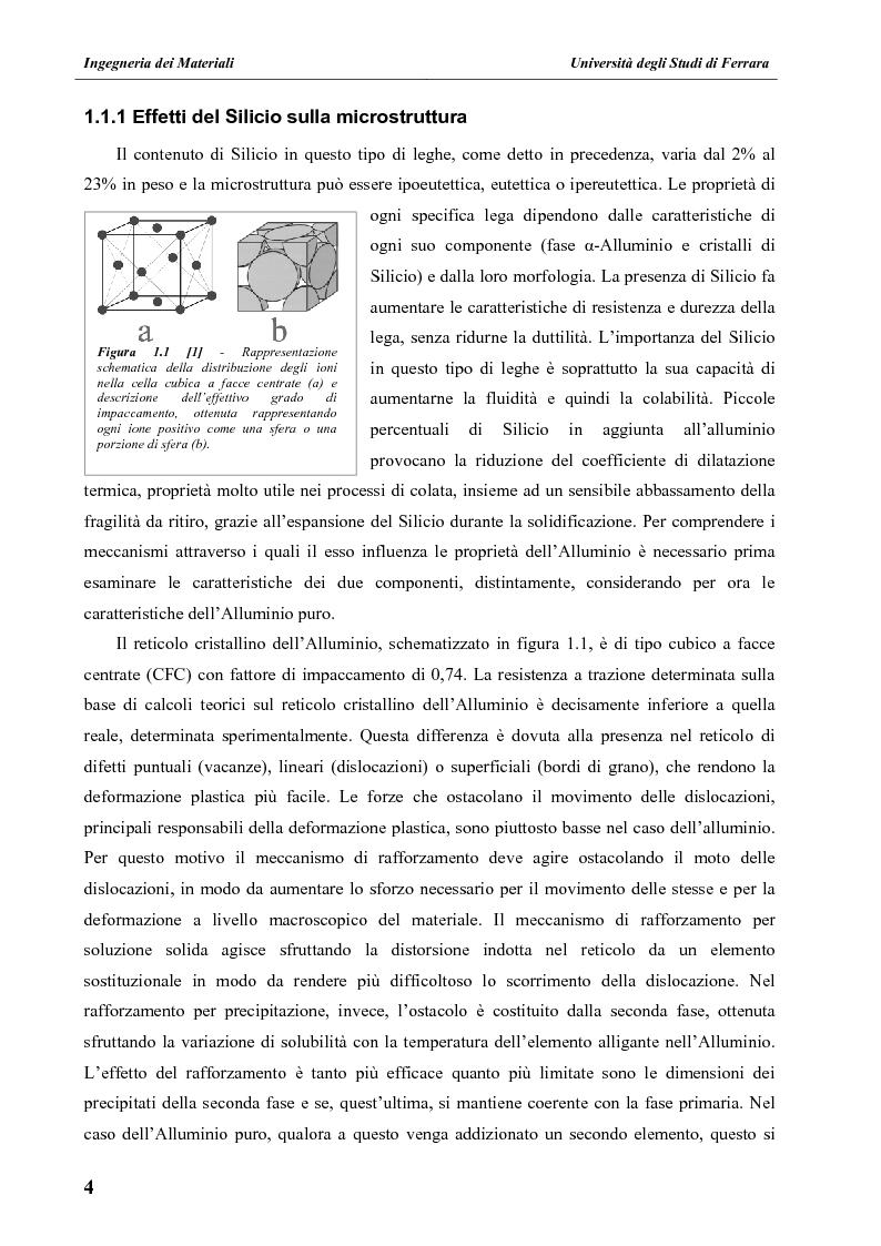 Estratto dalla tesi: Effetto dei tempi di trattamento termico e della composizione chimica sulle proprietà microstrutturali e meccaniche di leghe Al-Si-Mg da fonderia