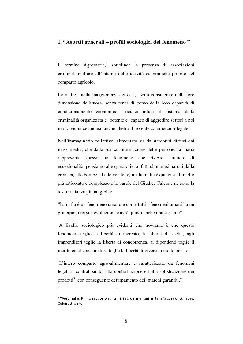 Anteprima della tesi: Le agromafie. Risposte normative e consumo consapevole., Pagina 4