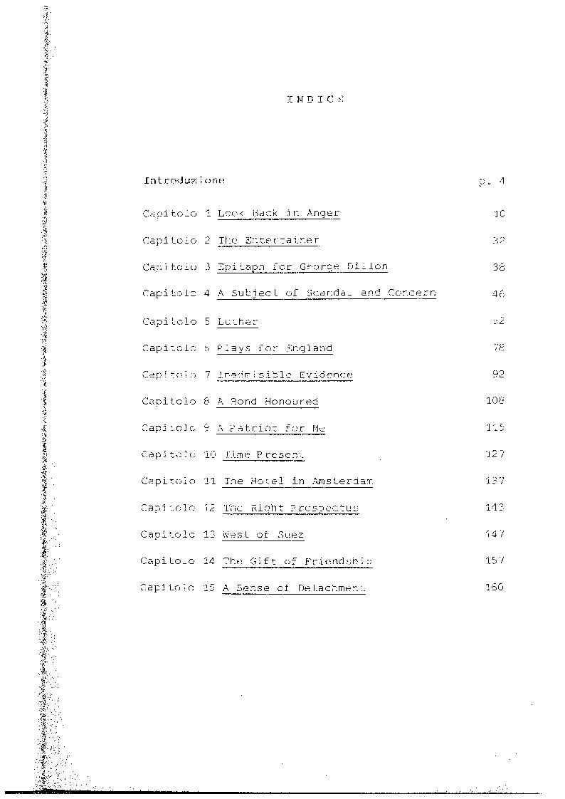 Indice della tesi: John Osborne e la critica. Recensioni 1956-1984, Pagina 1