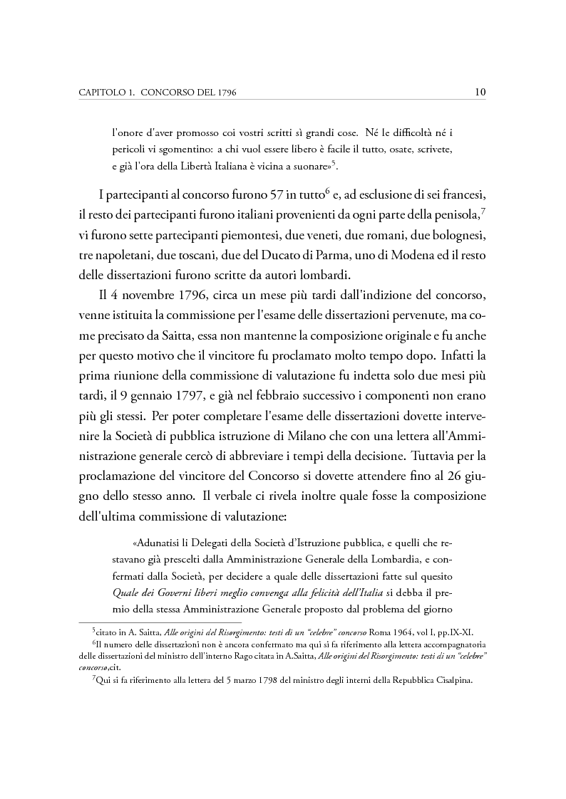 Estratto dalla tesi: Dibattiti politici e progetti federali in Italia fra XVIII e XIX secolo