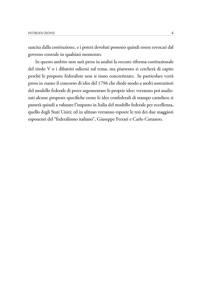 Anteprima della tesi: Dibattiti politici e progetti federali in Italia fra XVIII e XIX secolo, Pagina 4